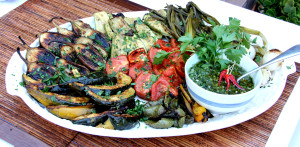 Beautiful Grilled Vegetables Platter